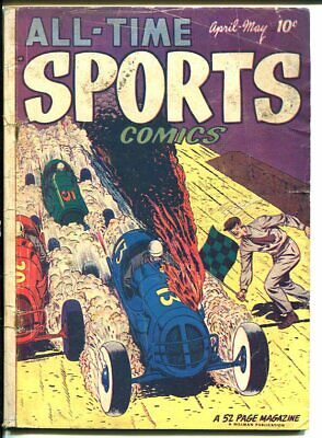 All-Time Sports Comics #4-Indy Car-Wrestling-Boxing G+