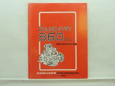 NOS Ducati 860cc Spare Parts Catalog Book Manual 860GT Bevel Twin B756