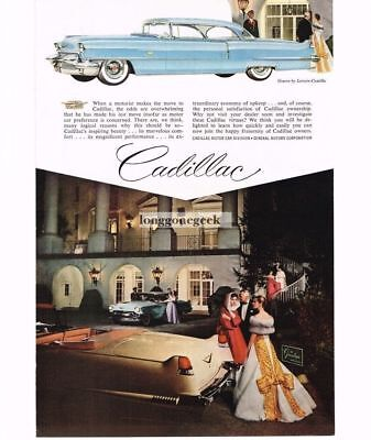 1956 Cadillac Coupe Deville Automobile Car Greenbrier Hotel Vtg Print Ad