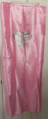 Supergirl Adult Satin Cape w/Mask Pink Halloween Costume Party Dress-Up