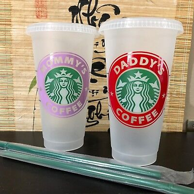 NEW Starbucks Reusable Cold Cup Mug with Personalized Custom Name Drink 24oz