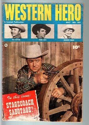 Western Hero #102-Tom Mix-Fawcett Cowboy Comic-Golden Age G