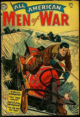 All-American Men Of War #12 1954-Dc Comic-Knights Armor G/vg