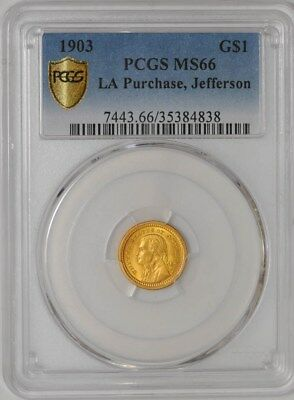 1903 $ Gold Jefferson LA Purchase #35384838 MS66 PCGS