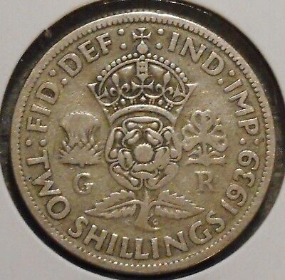 British Florin - 1939 - King George VI - $1 Unlimited Shipping