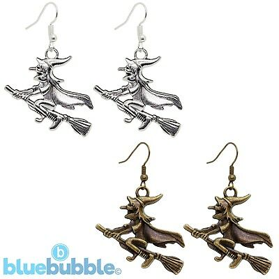 Bluebubble WITCH OF THE WEST Earrings Halloween Funky Fancy Dress Gothic Magic