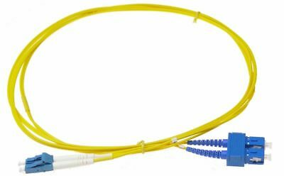 2m Fibre Optic SC-LC Single Mode Duplex Patch Lead OS2 SM Cable Yellow NBN NEW