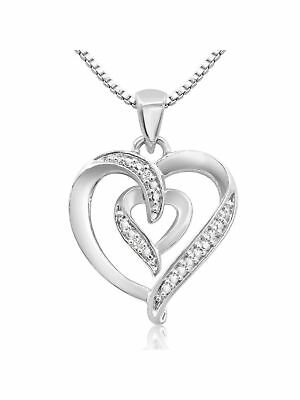 Diamond Accent Heart Necklace 18 Inches