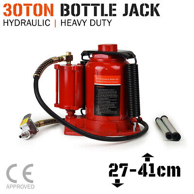 BOTTLE JACK - 30 TON Air & Manual Hydraulic - Car Truck SUV 4x4 Trolley Lift NEW