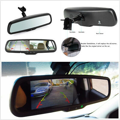 "DC12V 4.3"" TFT LCD Car Vehicle Rearview Mirror Reverse Monitor Display & Bracket"