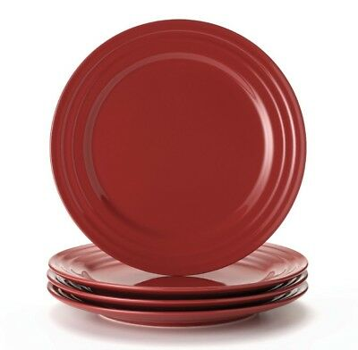 (4) Rachael Ray Double Ridge RED Dinner Plates 4 pieces New Tags  sc 1 st  PicClick & RACHAEL RAY Double Ridge Red SET OF 3 Dinner Plates - $19.99 | PicClick