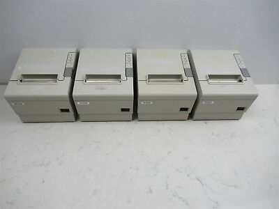 Lot of 4 Epson TM-T88IV Model M129H Thermal Receipt Printers Point of Sale POS
