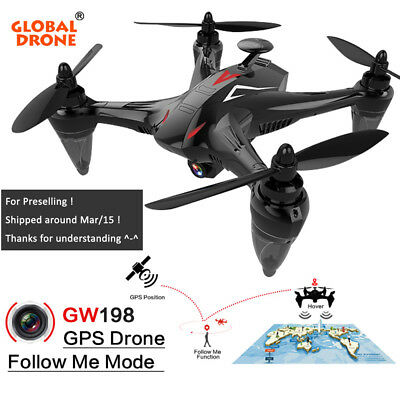 GW198 5G WiFi FPV Brushless Motor RC GPS Dron Hover Follow Me Drone Camera