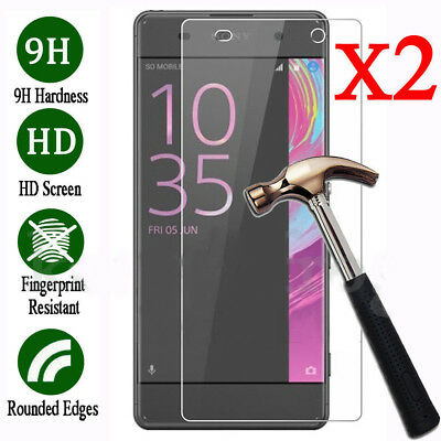 2X Premium Tempered Glass Film Screen Protector For Sony Xperia X Compact XA XA1