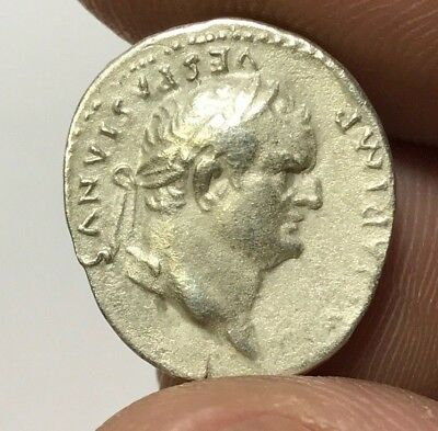 ANCIENT ROMAN SILVER COIN DENARIUS VESPASIAN 2,7gr 18.2mm