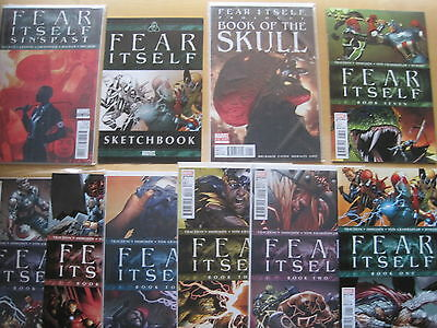 FEAR ITSELF : COMPLETE 10 ISSUE PACKAGE by FRACTION, BRUBAKER etc. MARVEL.2011