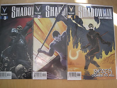"""SHADOWMAN, """"END TIMES"""" : COMPLETE 3 ISSUE SERIES by PETER MILLIGAN. VALIANT.2014"""