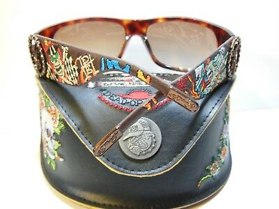 2d20e5f9574 NEW ED HARDY LIVE TO RIDE Dead Or Alive Tortoise Shell Brown Sunglasses  EHS-044