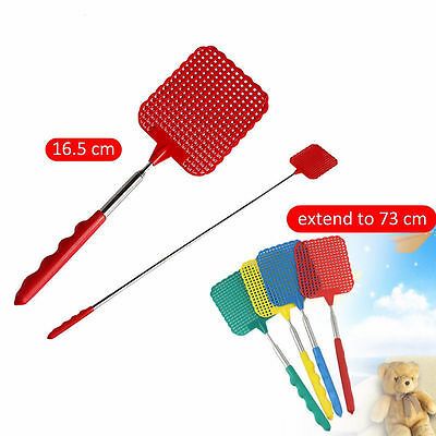 1X Extendable Handle Telescopic Insect Fly Swat Swatter Mosquito Extends to 73cm