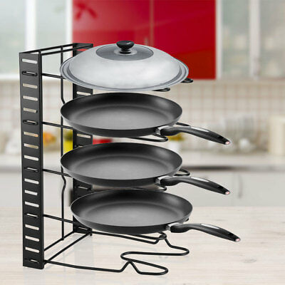 Cabinet Door Lid Organizer Rack Pot Pan Storage Holder Kitchen Organization