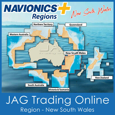 NAVIONICS+ REGIONS NEW SOUTH WALES / NSW AUSTRALIA-GPS CHART MAP SD/MicroSD CARD