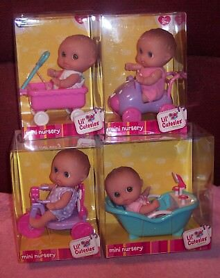 "NEW Set 4 Berenguer Doll 5"" Lil' Cutesies Mini Nursery Collector Set VHTF NIB"