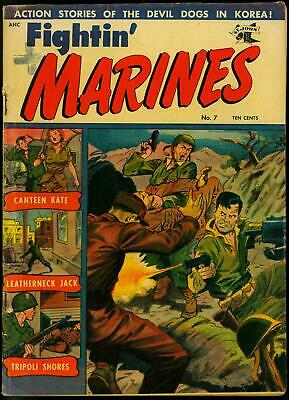 Fightin' Marines #7 1952- Matt Baker- Canteen Kate- St John Golden Age VG