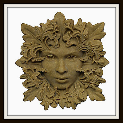 The Woodland Enchantress Greenwoman ~ Greenman Wall Plaque  ~ Garden Or Indoors