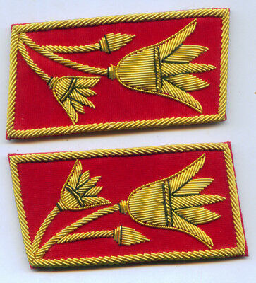 Anwar Sadat Egypt Uniform Collar Tabs President Army Officer War Revolution East