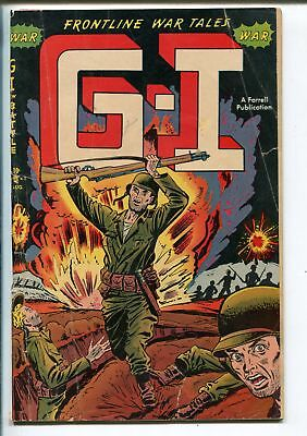 G-I IN BATTLE #1 1952-AJAX-1ST ISSUE-AMERICAN FLAG STORY-ELUSIVE WAR COMIC-vg