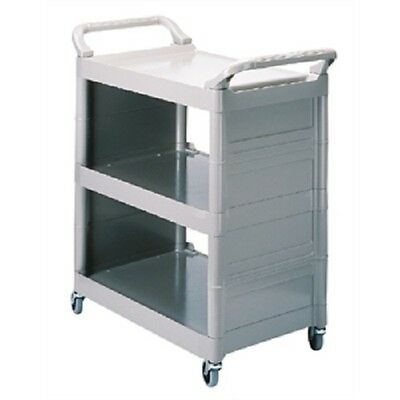 Rubbermaid Grey Light Duty Service Utility Cart Trolley Platinum - F631 Catering
