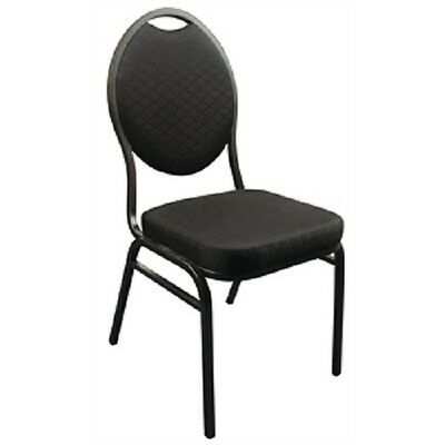 Bolero Black Oval Back Banquet Chair (Pack of 4) Conference Restaurant CE142