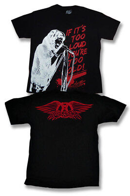 """Aerosmith - Steven Tyler """"if It's Too Loud You're Too Old"""" T-Shirt *new* / Sz. L"""