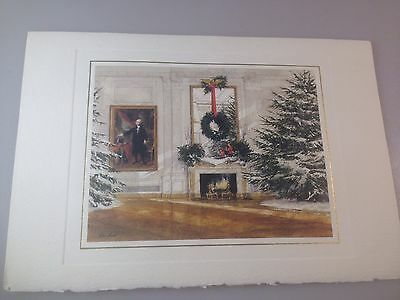 White house president ronald reagan birthday card with envelope 1986 president reagan mrs reagan official white house holiday card with seal bookmarktalkfo Choice Image