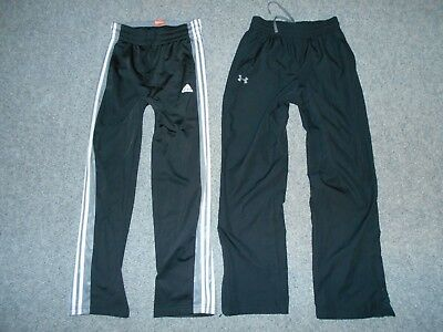 2 Pairs! Adidas & Under Armour Mens Small Athletic Pants Lot                  B6