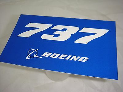 Boeing 737 Sticker  Genuine  Boeing Produced Item Made In Usa