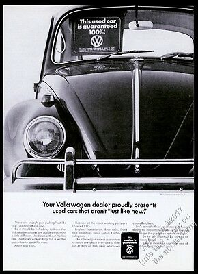 1968 VW Beetle classic used car photo Volkswagen vintage print ad