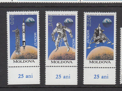 MOLDOVA: 1994 25th Anniversary 1st Man on the Moon.Set of 3 stamps. SG136/8. MUH