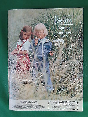 Vintage SEARS 1975 Spring / Summer Catalog - 1,392 Pages of those '70s Styles!