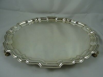 LARGE, sterling silver OVAL SALVER, 1967, 1060gm
