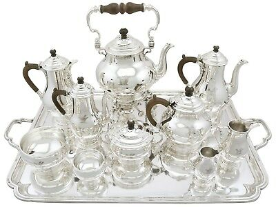 Antique George V Sterling Silver Ten Piece Tea and Coffee Service 1930