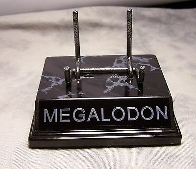 the original megalodon tooth display stand for megladon fossil