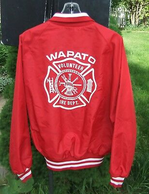 Wapato WA Volunteer Fire Dept XL Red Jacket Made For Pla-Jac by Dunbrooke