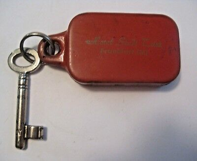 Rare Vintage Hotel Stadt Trier Frankfurt Germany Advertising Room Key & Keychain