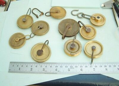 Clock makers longcase Grandfather clock Pulleys or spools clock repairer nice