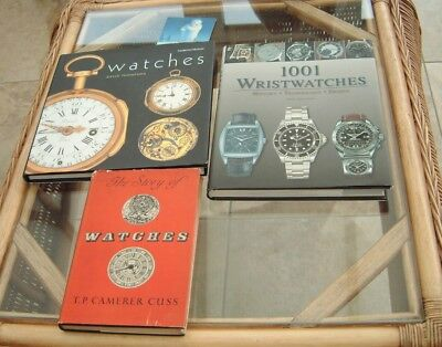Vintage watchmakers books on old & new modern wristwatches nice reference books