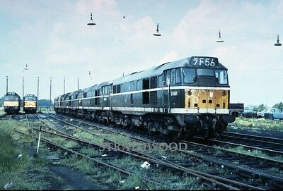 CLASS 31 D5581 at March in the 1960s Railway Slide COLOUR RAIL
