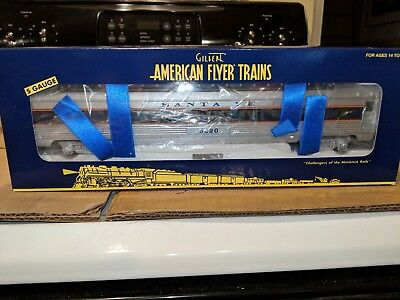 American Flyer S Gauge 6-49940 Santa Fe Full Vista Dome Car C-9 w/OB