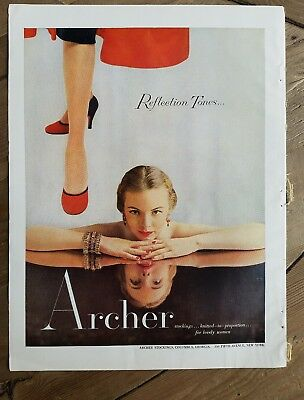 1951 Archer Hosiery stockings for lovely women's legs fashion vintage ad