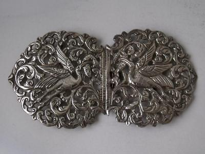 Pretty Decorative Solid Sterling Silver 2-Part Buckle 1978/ L 10.6 cm/ 54 g